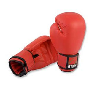 GTMA LEATHER BOXING GLOVES - red - - Leather Gtma