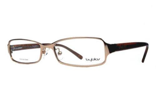 Glasses Byblos - Byblos Women's BY013 Gold (04) Frame Clear Lens Full Rim Eyeglasses 53mm