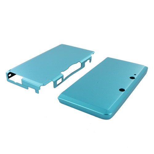 Skque Aluminum Snap-On Case Cover for Nintendo 3DS-color in Light Blue