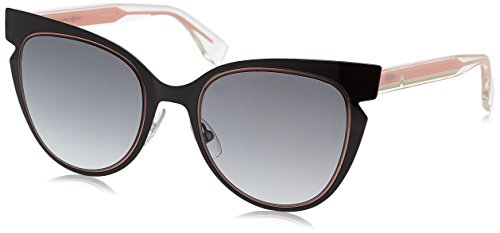 Fendi Women's Cutout Sunglasses, Black Crystal/Grey Gradient, One Size ()