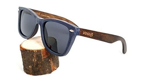 Wood Sunglasses Handmade Retro style UV-400 Polarized Sun Lenses Plus Cap in Gift ()