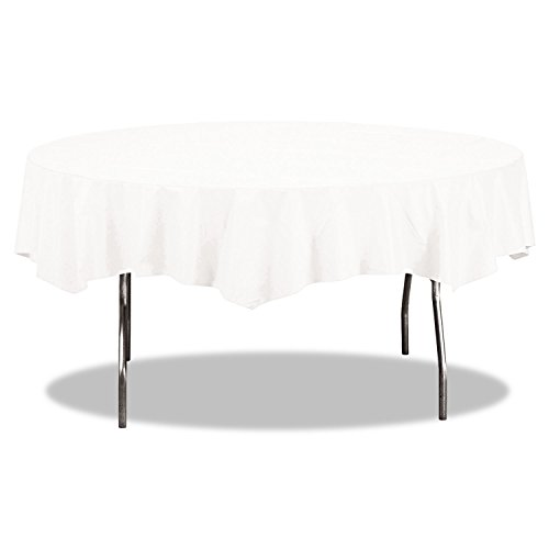 Creative Converting 923272 Octy-Round Paper Table Cover, 1-Ply, White (Pack of 12)