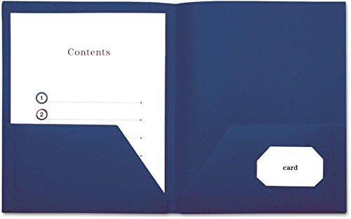 Universal 20542 Two-Pocket Plastic Folders, 11 x 8 1/2, Royal Blue, 10/Pack