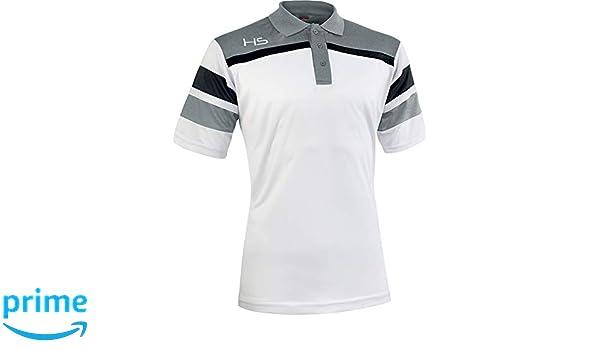 HS S13 Respect Polo, Unisex Adulto, Bianco/Grigio/Nero, XX-Large ...