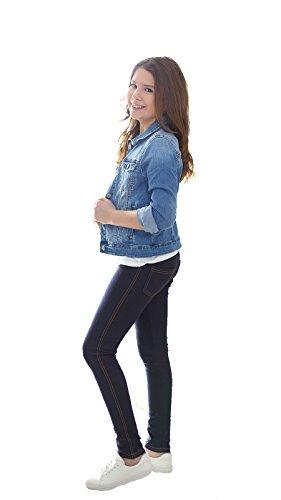 AlexFashion - Vaquero - jegging - para niña Azul