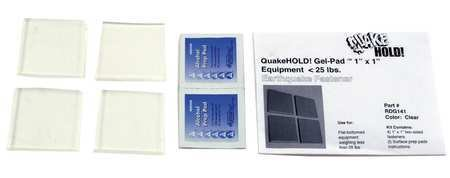 Gel Pad Seismic Fastener, Clear (Gel Quakehold)
