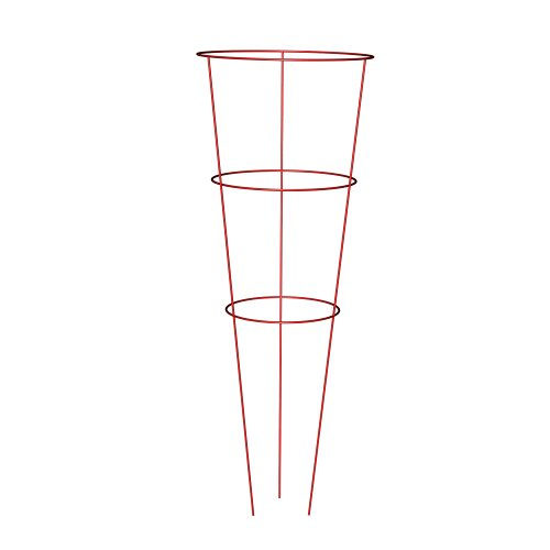 Panacea Products 89776 Heavy Duty Tomato and Plant Support Cage, Red, Set of 10