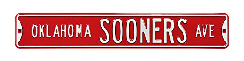"Oklahoma Sooners Authentic Street Sign ""Avenue"" 36"" x 6"" from Authentic Street Signs"
