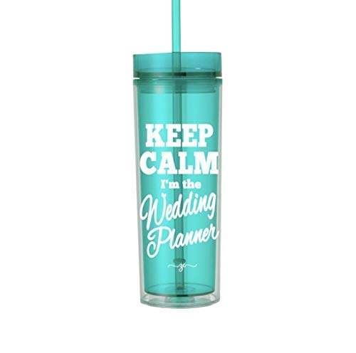 (Wedding Planner Thank You Gifts for Women Tumbler with Lid and Straw 0118)