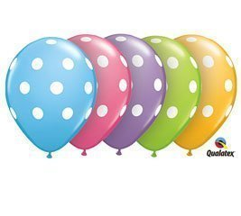 Qualatex 11 Round Balloons, Big Polka Dots Assortment - Pack of 100 by Pioneer Balloon - Mall Stores Pioneer