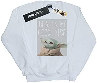 Star Wars Herren The Mandalorian The Child Good Side Sweatshirt Weiß X-Large