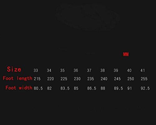 da Bocca arcobaleno a Punta Rosso cm Bassa e Scarpe Tacchi Poco Profonda con 10 a1Zgnqgvwx