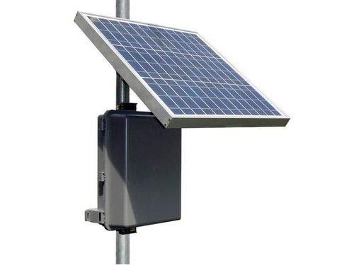 RemotePro 8W Cont Pwr Sys, 30W Solar, 12V 36Ah 432Wh Batt, 12V 8A PWM Sol Chrg Ctrl w/Ld Ctrl 24V 30W Pasv PoE + 12V 1.5A Aux Out, Pole/Wall Mt Outdr Lock UV Res Polycarb Encl + SideofPole Solar Mt