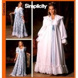 SIMPLICITY PATTERN 5188 VINTAGE CLOSET TURN OF THE CENTURY NIGHTGOWN & ROBE sz AA: XS, S, M - Vintage Nightgown Patterns