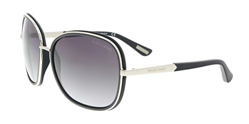 Guess by Marciano GM0734 06B Silver/Black Rectangular - Guess Sunglasses Sale