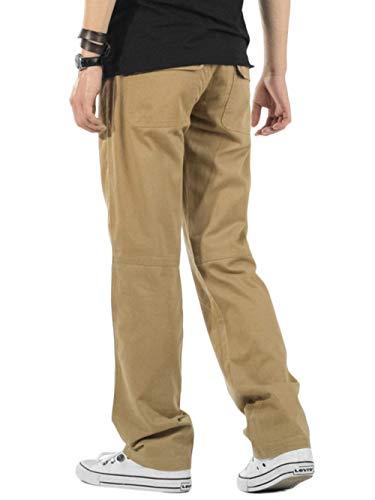 Algodón Khaki Sueltos Relajados Básico De Cómodo Y Battercake Hombres Para Pantalones Vestir Trabajo wxHRTqvH