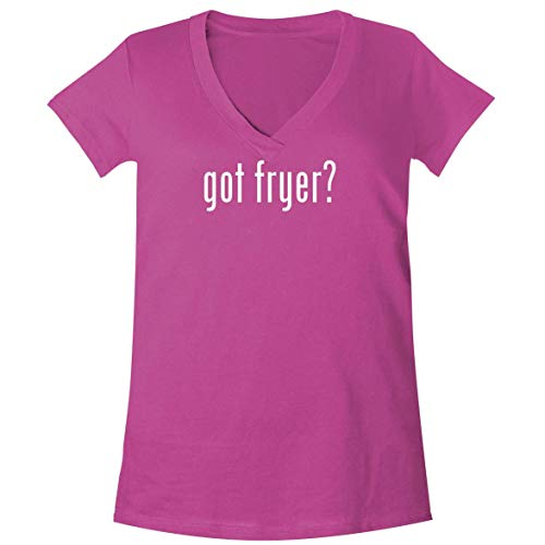 got Fryer? - A Soft & Comfortable Women's V-Neck T-Shirt, Fuchsia, Large