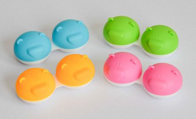 Sports Vision World 3 x Bear Range Fun Cute Animal Pink Contact Lens Storage/Soaking Case Free PP