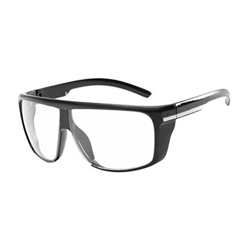 de Métal Coupe UV Lunettes Lunettes Avec étui vent Zhhlaixing Protection Grand Soleil Transparent Sunglasses Cadre Cadre Mode 400 H5wxn6qnz7