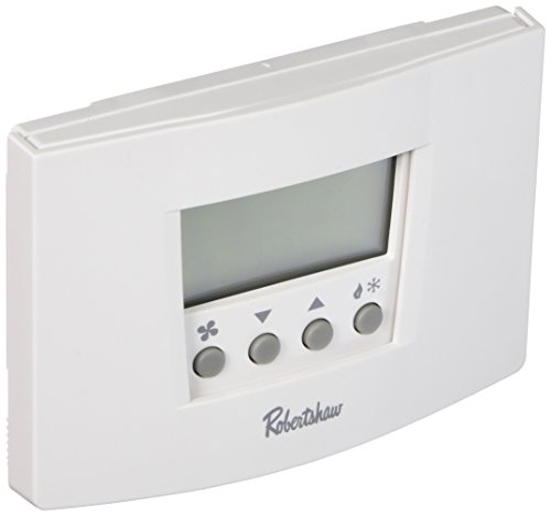 (Robertshaw RS6110 1 Heat/1 Cool Digital 7 Day Programmable Thermostat Heat Pump, Single Stage)