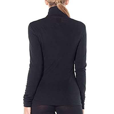 Icebreaker Merino WMNS 175 Everyday Ls Half Zip Base-Layer-Tops: Clothing