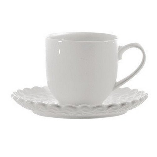 La Porcellana Bianca Momenti Coffee Cup with Stand, Set of 6, 3 oz