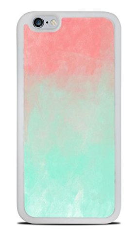 Trendy Accessories Ombre Watercolors Design White Silicone Case for iPhone 6 - Case Color Iphone 6 Ombre