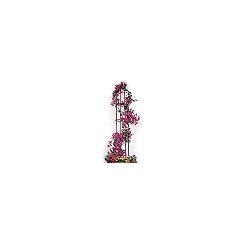 Relaxdays 2 Stück Rankhilfe aus Metall rund je 2 m hoch - Rankengitter Blumengitter Blumensäule Rosengitter