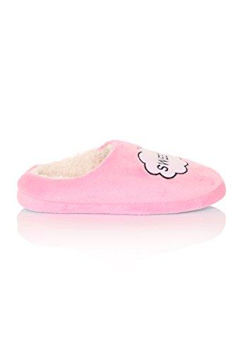 Loungeable Boutique - Zapatillas de estar por casa de Material Sintético para mujer Rosa rosa Talla  - S 36 EU -37 EU Rosa