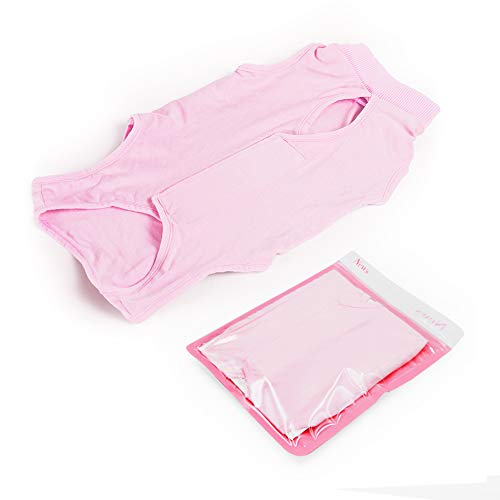 Cat Professional Recovery Suit for Abdominal Wounds or Skin Diseases, E-Collar Alternative for Cats and Dogs, After Surgery Wear, Home Clothing (M, Pink)