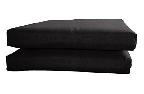 BHG Sunbrella Designer Seat Cushions-Knife Edge (2 Pack), Canvas Black