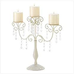 Ivory Candelabra Wedding Gift Centerpiece Candle Holder