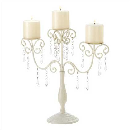 Taczotech Ivory Elegance Scrollwork Candelabra Candle -