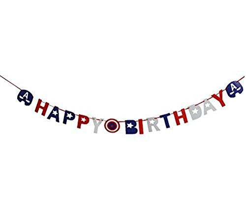 Astra Gourmet Avengers Superhero Happy Birthday Party Banner Bunting Banner Party ()