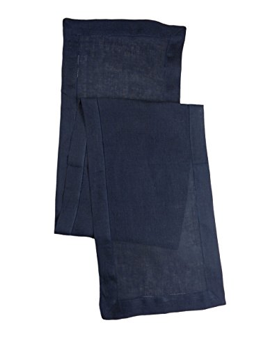 100% Linen Hemstitch Table Runner - Size 16x90 Indigo - Hand Crafted and Hand Stitched Table Runner with Hemstitch detailing. The pure Linen fabric works well in both casual and (Cotton Garden Table Runner)