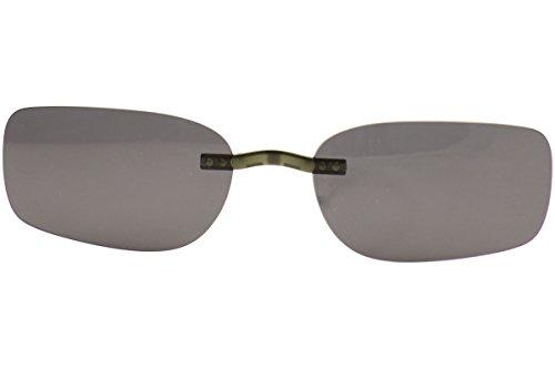 SILHOUETTE Enviso Clip-On 5076 Polarized Gray (Shape:6680 - Sunglasses Silhouette On Clip Eyewear