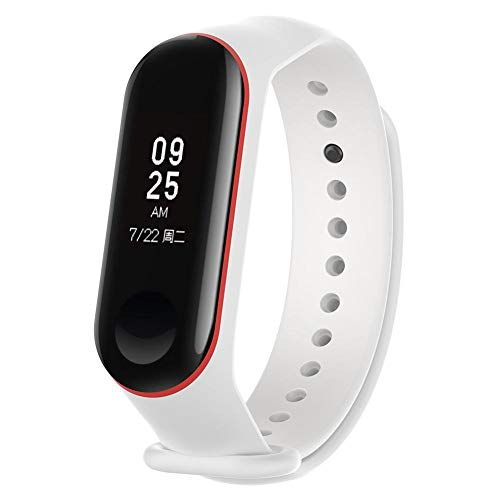 Price comparison product image Millet Accessories Smart Accessories Two-Color Replacement Silicone Wristband for Xiaomi 3 Smart Bracelet White