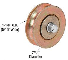 Sliding Patio Door Replacement Roller, 1 1/8u0026quot; Diameter Steel Ball  Bearing