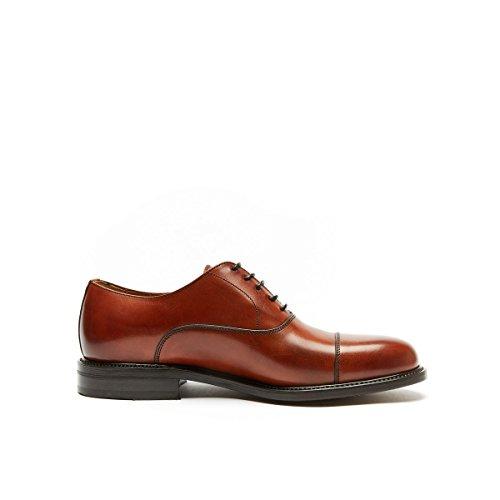 British Passport BP7148 - Zapatos de Cordones de Piel Para Hombre Marrón Marrón