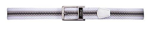 TITLEIST(タイトリスト) メッシュベルト ゴルフ用ベルト メンズ AABT72-WTGY 白グレー  サイズ:フリー(100cm センター穴)、幅3.5cm