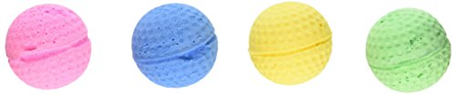 Coastal Pet 1.5″ Sponge Ball Cat Toy Multi-Colors, 4-Count per Pack (1-Pack)