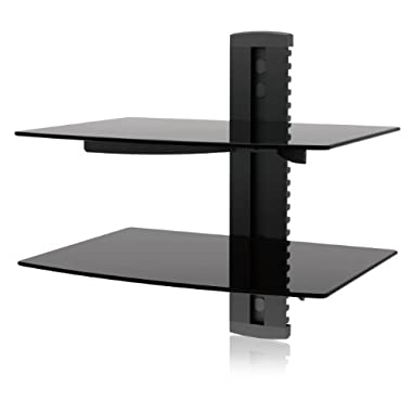TV Wall Mount, Ematic Wall Mount Kit with 2 Shelves, Cable Organization for DVD Players, DVRs and Console Gaming Systems [ EMD212 ]