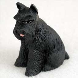 Schnauzer Miniature Dog Figurine - Black