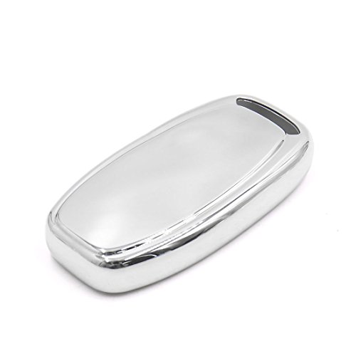 uxcell Silver Tone Remote Key Case Holder Shell Cover For Audi A6L A4L A5 A7 A8L Q5 S5 by uxcell