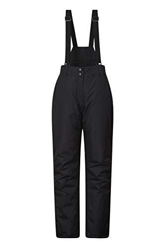 Mountain Warehouse Pantalon de Ski Femmes Moon – Déperlant, Taille réglable, Bretelles détachables, Poches – Idéal pour Le Ski