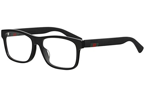 Gucci GG 0176O 001 Black Plastic Rectangle Eyeglasses 56mm