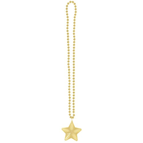 Amscan 397501.19 Light‑Up Star Necklace, Gold (Pack of -