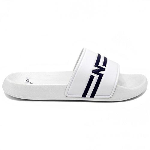 Nautica Mens Kingston Athlétique Glisse Confort Sandale Blanc