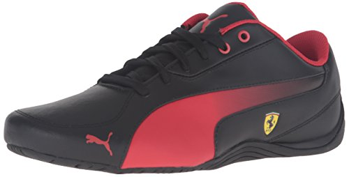 PUMA Men's Drift Cat 5 Sf Fashion Sneaker, Black/Rosso Corsa, 10 M US (Puma Drift Cat Ferrari)