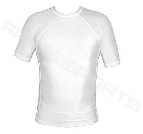 Prime-Maglietta Rash Guard MMA e Grappling-Gilet da corsa, con maglietta UFC-Guanti da boxe da uomo a mezza manica, taglia XL, colore: bianco Prime Sports
